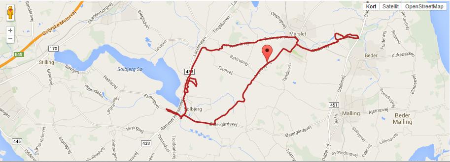 Cykelrute solbjerg – vilhelmsborg 25 km mtb